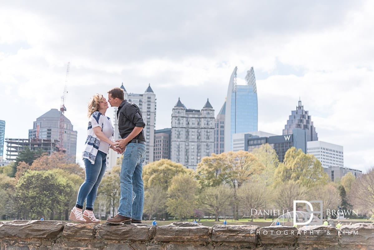 engagement photos piedmont park atlanta wedding photographer