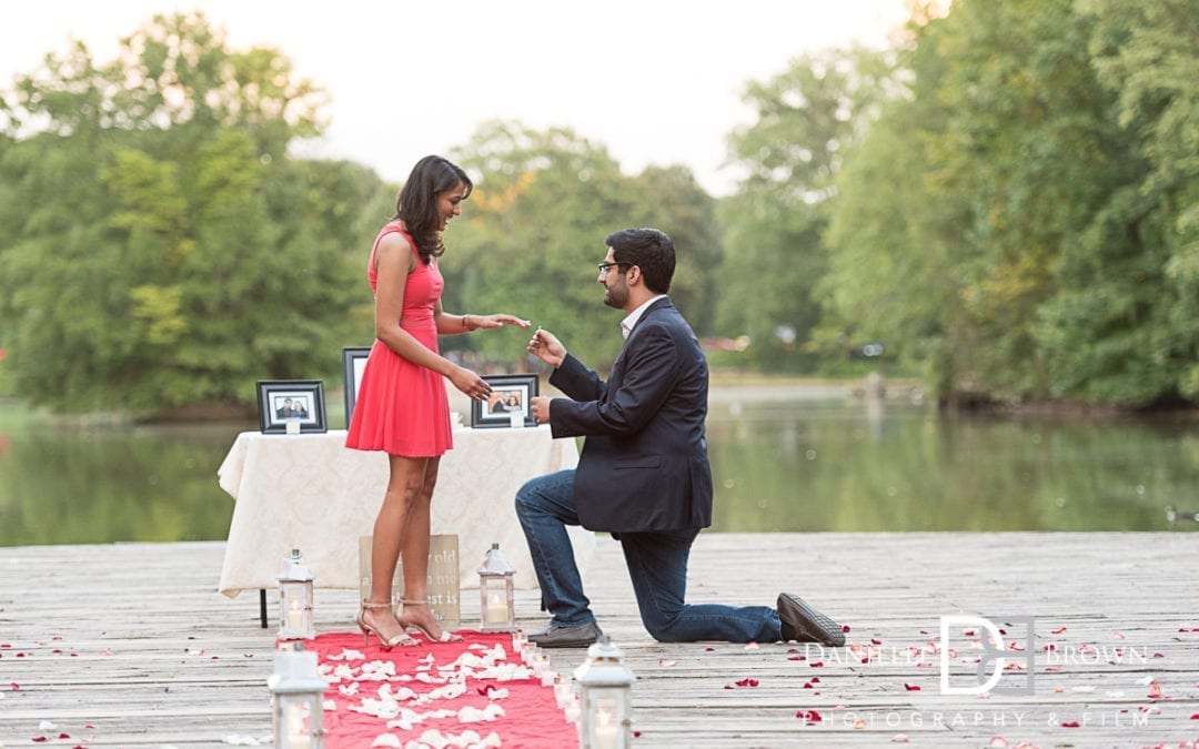 surprise proposal piedmont park | atlanta wedding photography