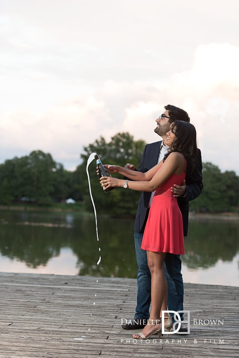 surprise proposal piedmont park | atlanta engagement photographers