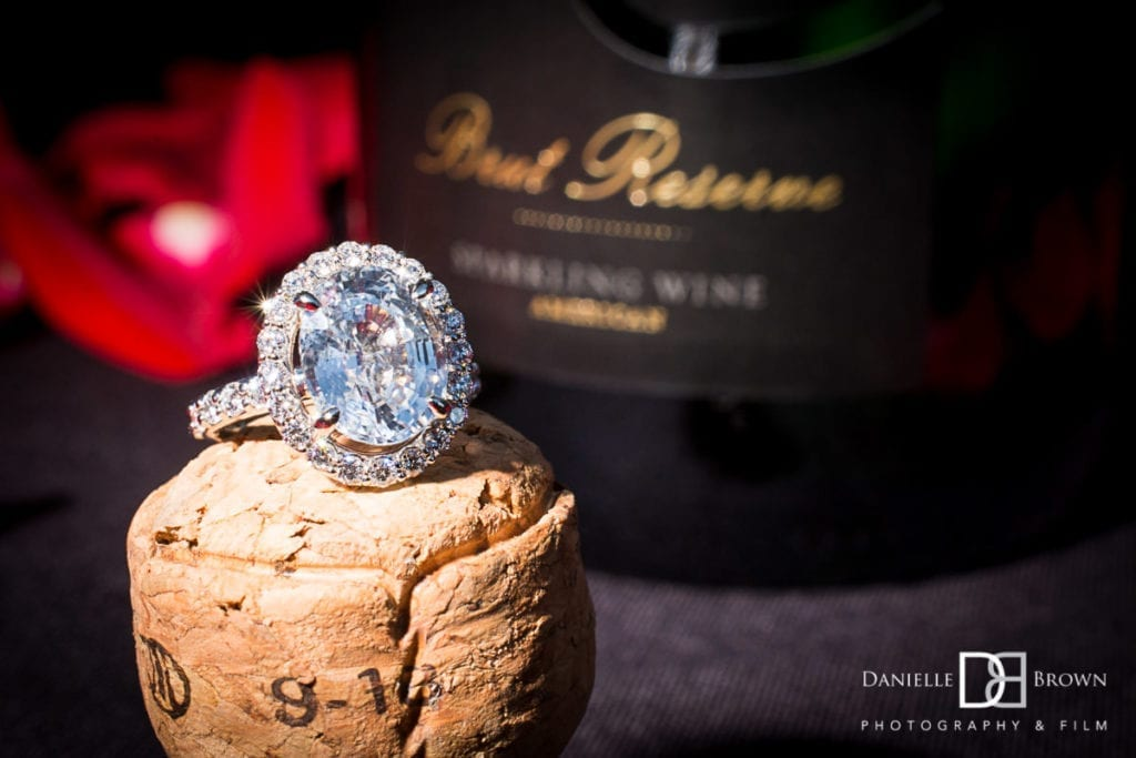 planning surprise proposal | macro photography of engagement ring