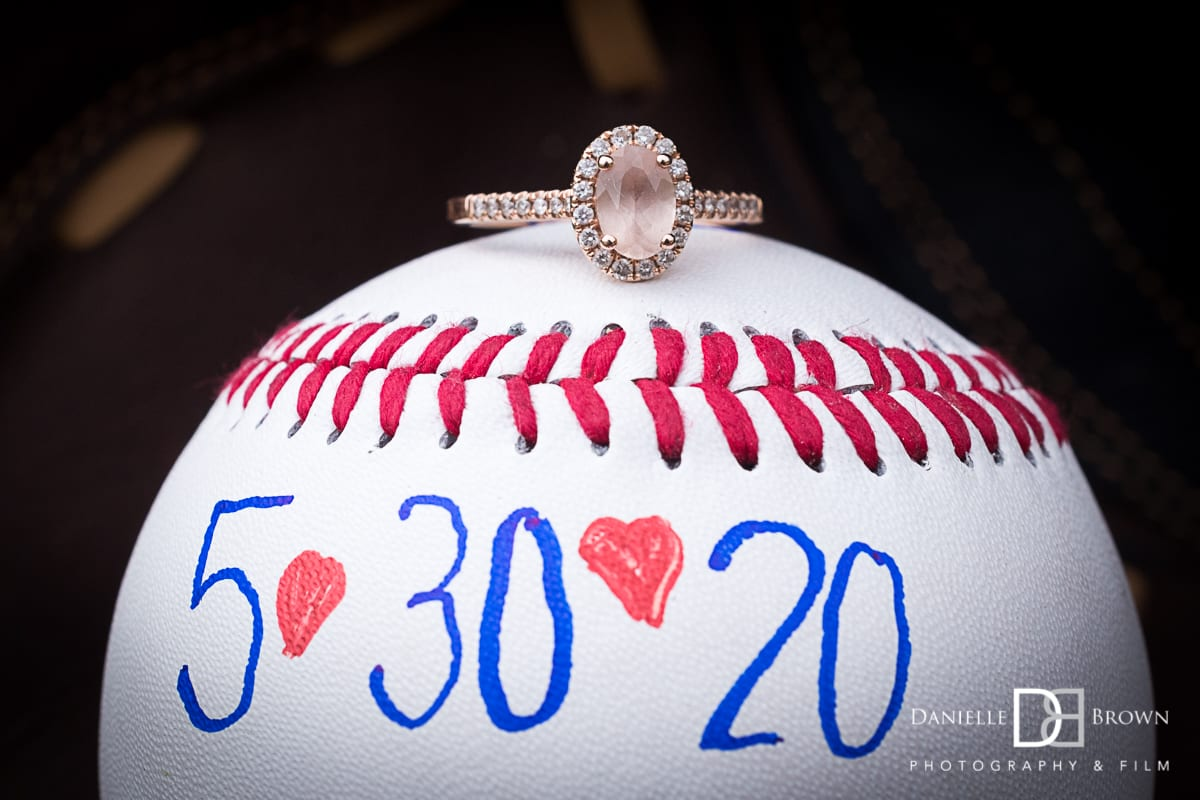 baseball themed engagement photos