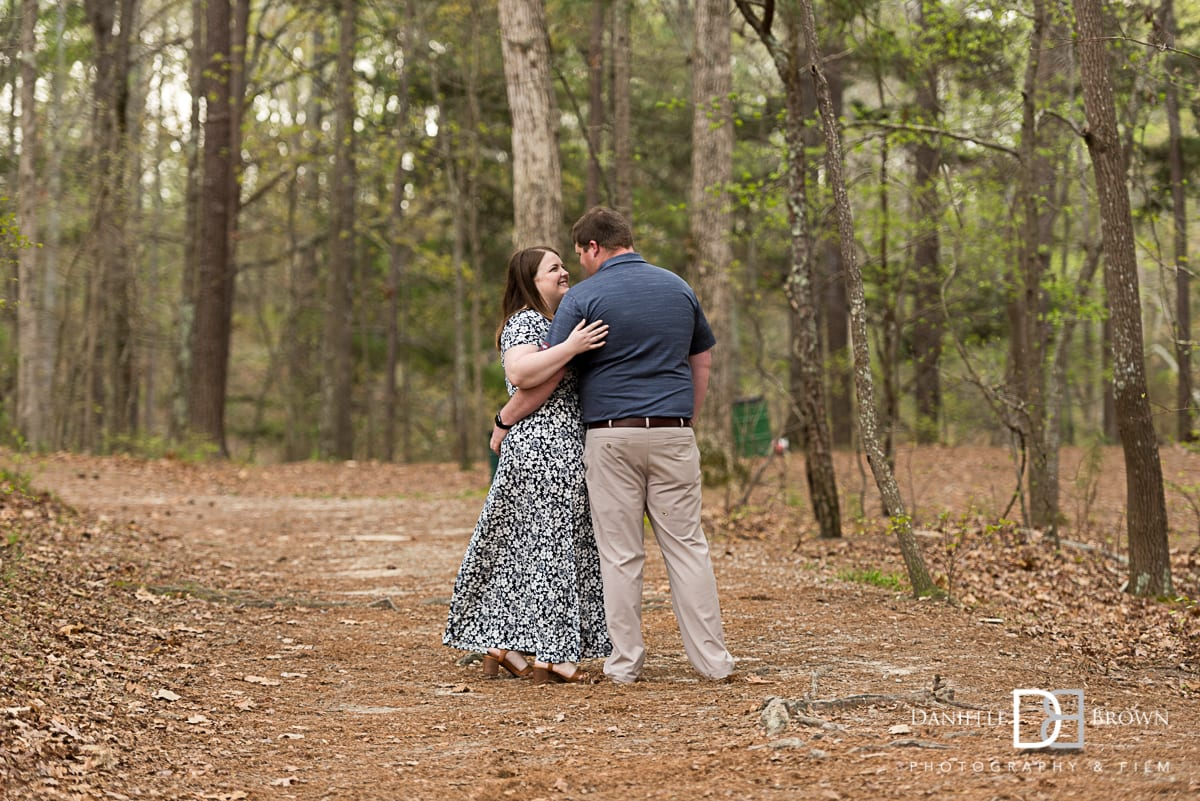 engagement photos at Stone Mountain State Park